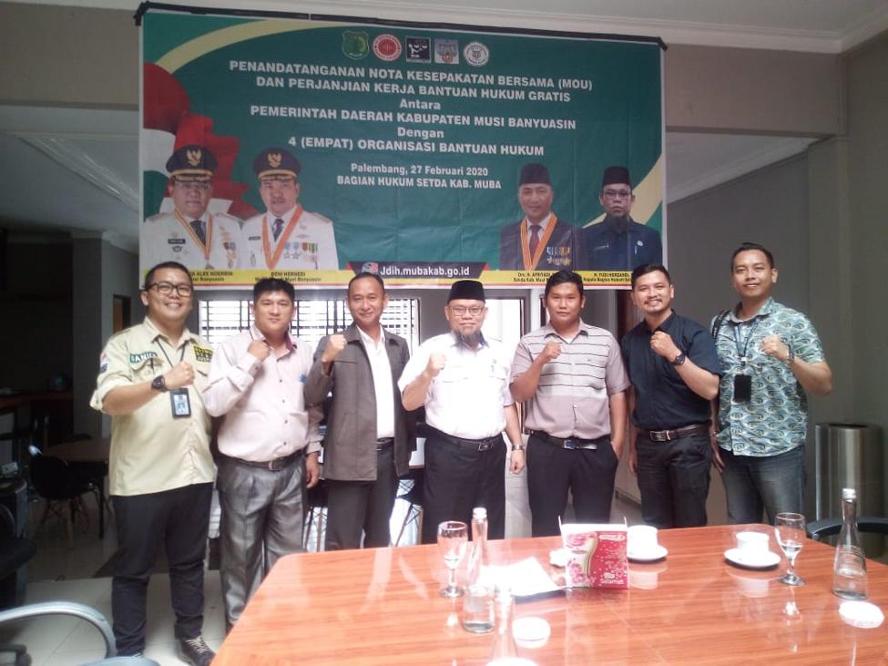 Penandatanganan Mou Dan Perjanjian Kerja Bantuan Hukum Gratis Antara Pemerintah Daerah Kabupaten Musi Banyuasin Dengan Organisasi Bantuan Hukum Tahun 2020 Lembaga Bantuan Hukum Palembang